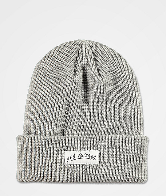 Old Friends OF Font Grey Beanie