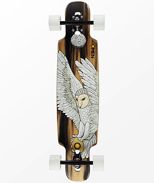"Omen Messenger 36"" drop through doble longboard completo"