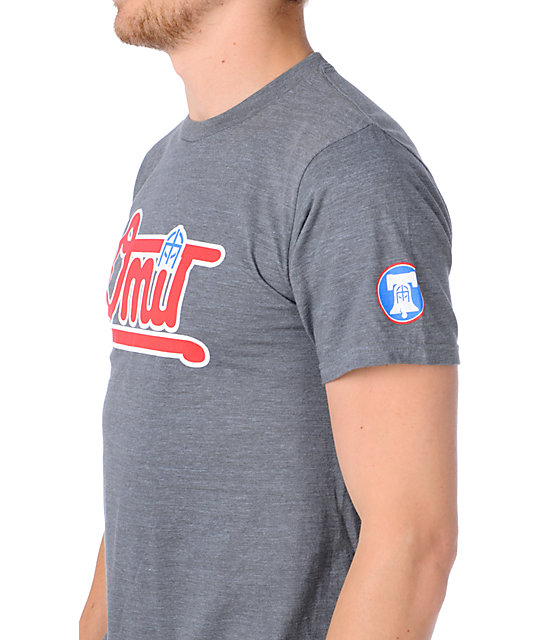 Omit Bases Loaded Heather Charcoal T-Shirt