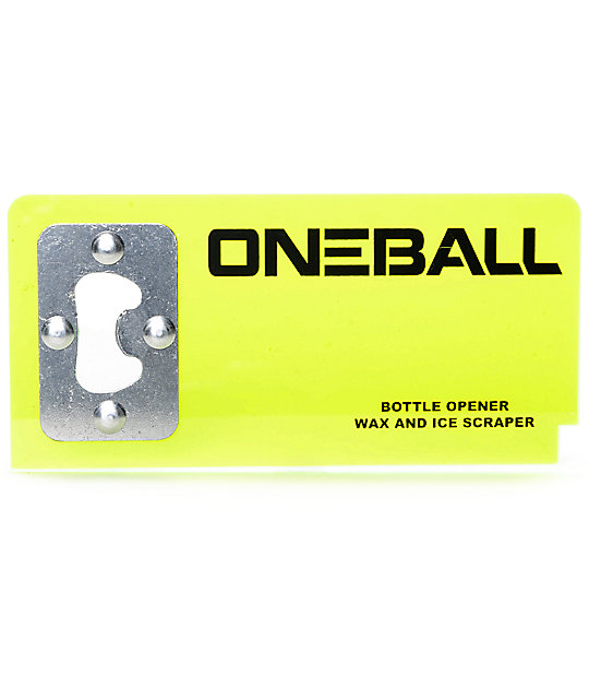 One Ball Jay Clear Bottle Opener Wax Scraper