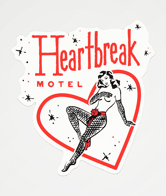 Open925 Heartbreak Motel pegatina