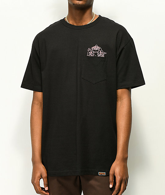 Open925 Hot Tub Club Black Pocket T-Shirt