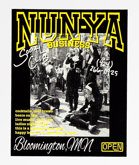 Open925 Nunya Business Sticker