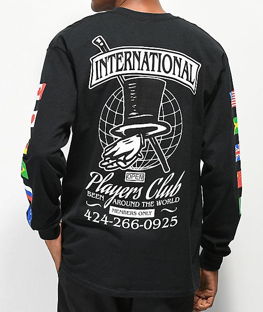 5adb32b5 Open925 Players Club Black Long Sleeve T-Shirt