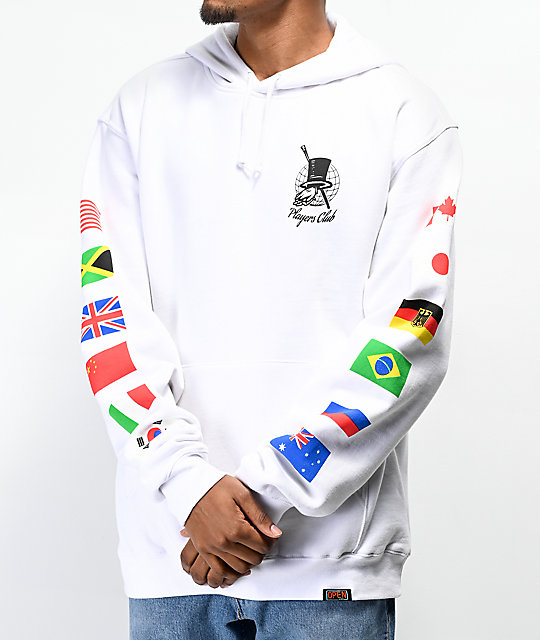 Open925 Players Club White Hoodie