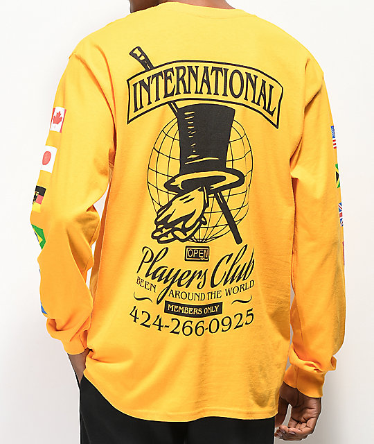 Open925 Players Club Yellow Long Sleeve T-Shirt