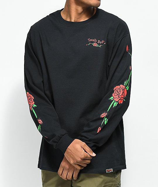 Open925 Totally Buds Black Long Sleeve T-Shirt