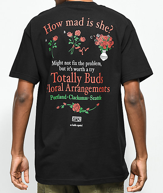 Open925 Totally Buds Black T-Shirt
