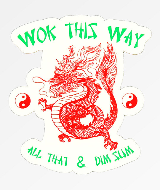 Open925 Wok This Way Sticker
