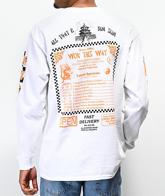 0e77005ef0d1 Open925 Wok This Way White Long Sleeve T-Shirt | Zumiez