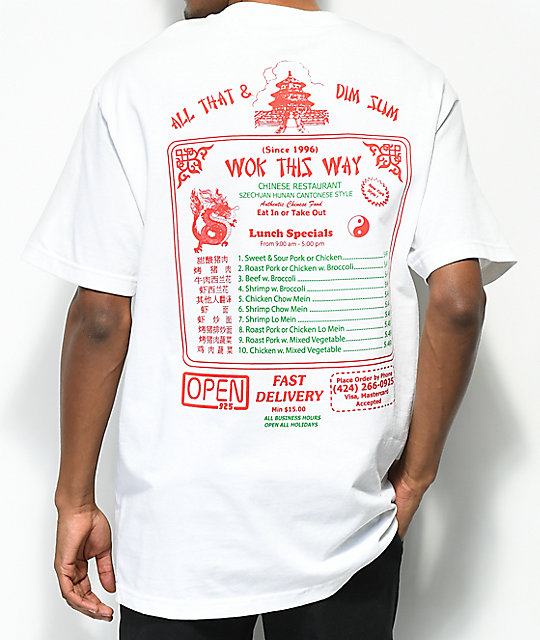Open925 Wok This Way White T-Shirt