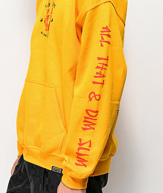 Open925 Wok This Way Yellow Hoodie