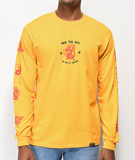 Open925 Wok This Way Yellow Long Sleeve T-Shirt