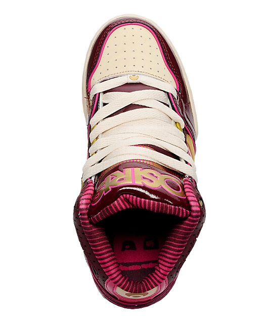 Osiris Bronx Print, Pink & Gold Shoes