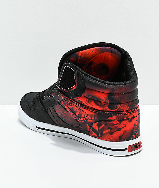 Osiris Clone Huit Battle Black & Red Skate Shoes