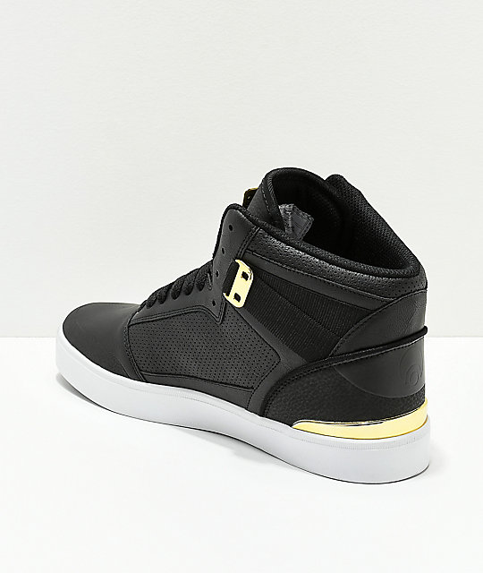 Osiris Cultur Black & Gold Skate Shoes