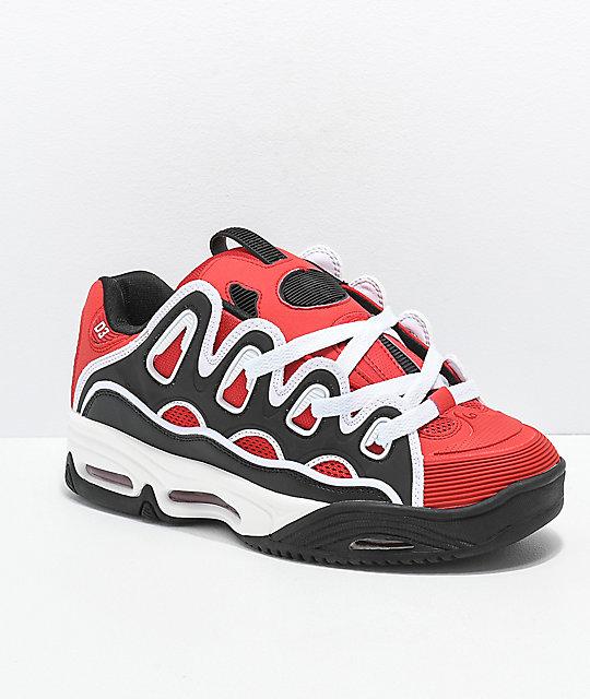 cd8d3e94ad6 Osiris D3 2001 Red, Black & White Skate Shoes | Zumiez
