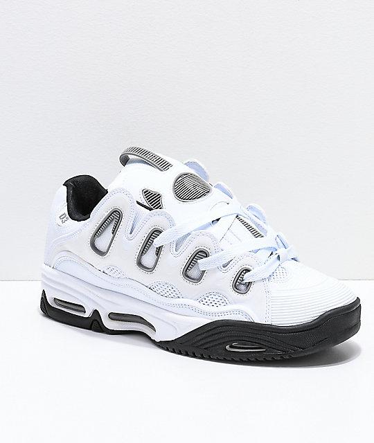 bc15c72936e Osiris D3 2001 White, Grey & Black Skate Shoes | Zumiez