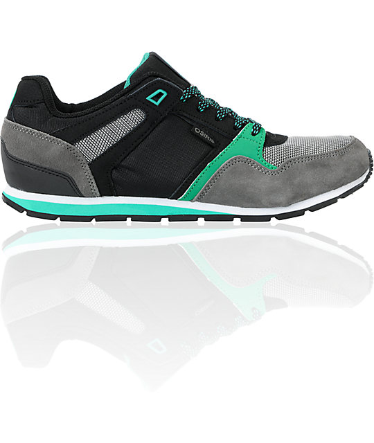 Osiris Hayou LT Charcoal, Green & Black Shoes