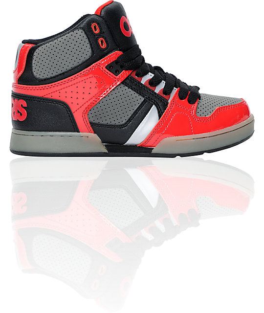 Osiris Kids NYC 83 Black, Charcoal & Red Skate Shoes