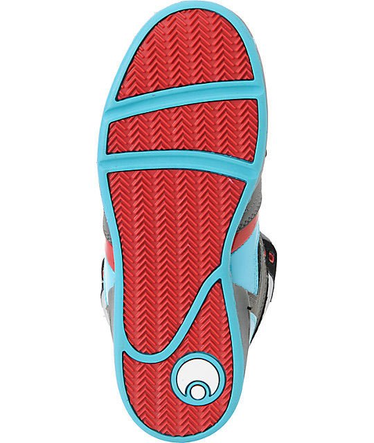 Osiris Kids NYC 83 Black, Teal & Red Skate Shoes