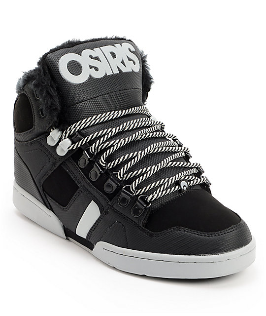 Osiris Shoes High Tops With Fur
