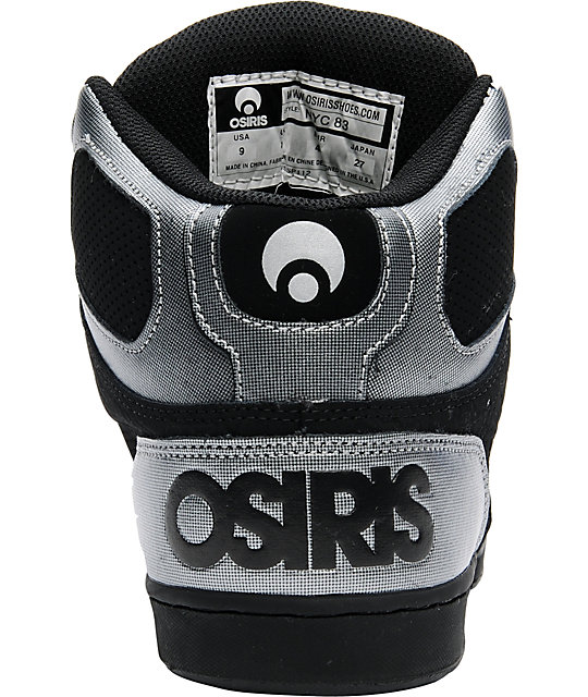 Osiris NYC 83 Black, Gunmetal & Lime Shoes