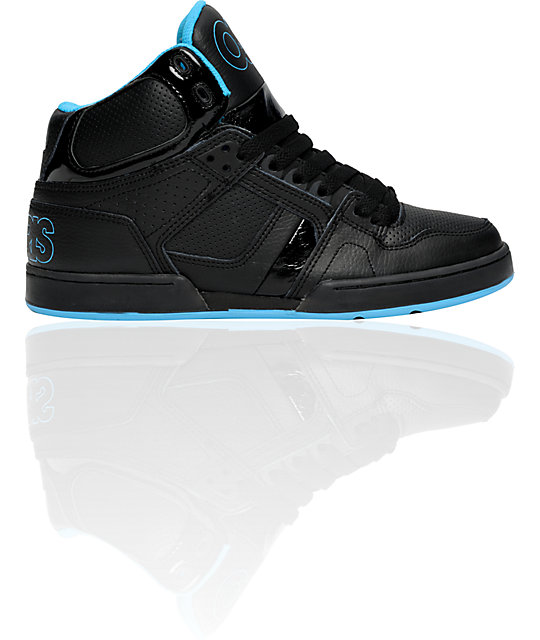 Osiris NYC 83 Black & Cyan Shoes