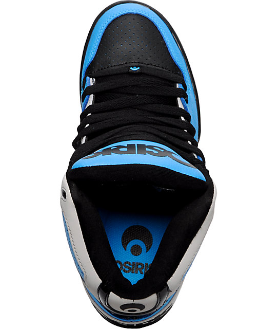 Osiris NYC 83 Grey, Black & Blue Shoes