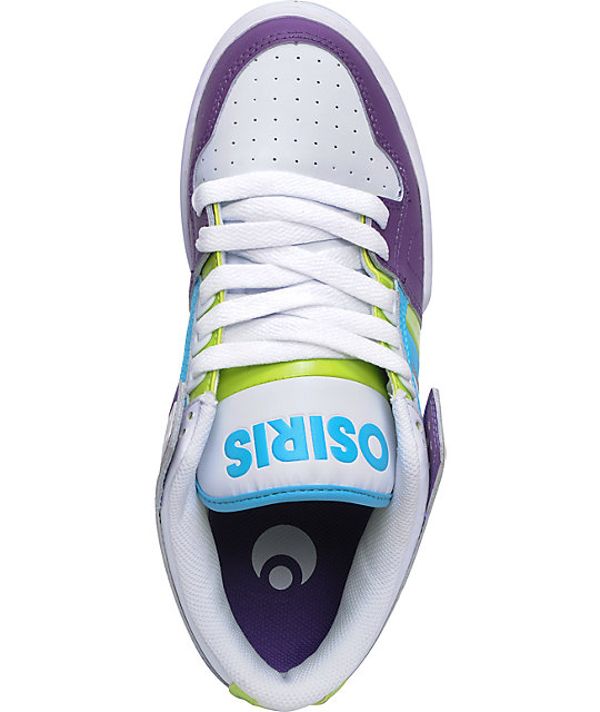 Osiris NYC 83 Low Purple, White & Lime Shoes