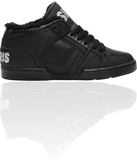 Osiris NYC 83 Mid SHR Black & 3M Shoes