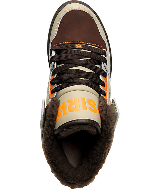 Osiris NYC 83 Mid SHR Tan, Brown, & Orange Shoes