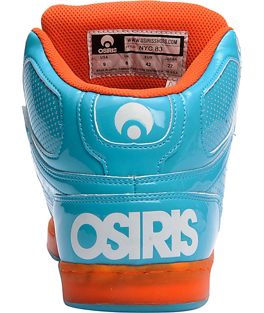 Osiris NYC 83 Teal, Orange, & White Shoes