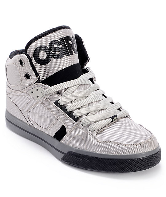 Osiris NYC 83 VLC Ballistic Grey   Black Skate Shoes  22e1b9586a9