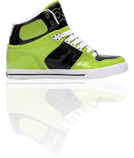 Osiris NYC 83 VLC Black & Lime Shoes