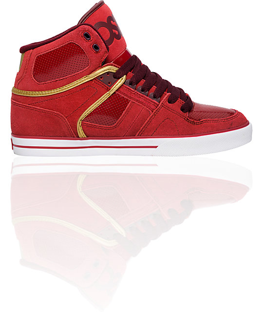 Osiris NYC 83 VLC Burgundy, Red & Gold Shoes