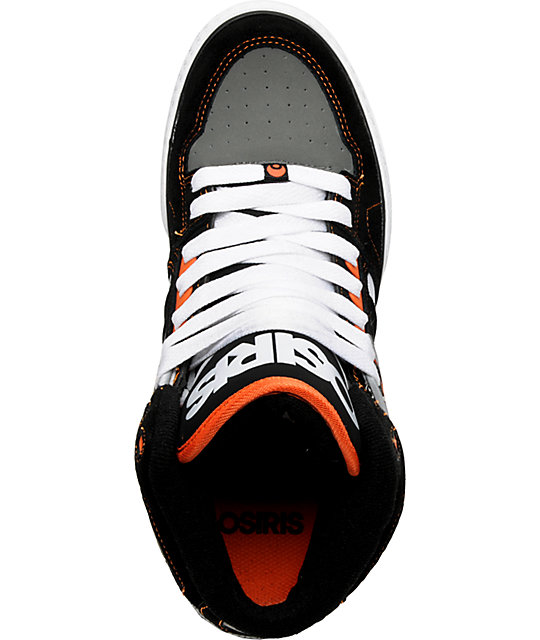 Osiris NYC 83 VLC Orange & Black Shoes