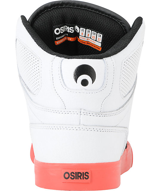 Osiris NYC 83 VLC Red, Black & White Shoes