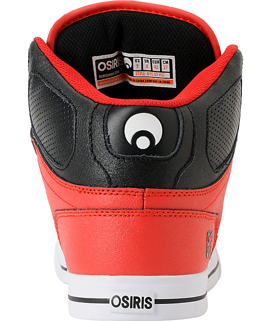 Osiris NYC 83 Vulc Baller Series Red, White & Black Shoes