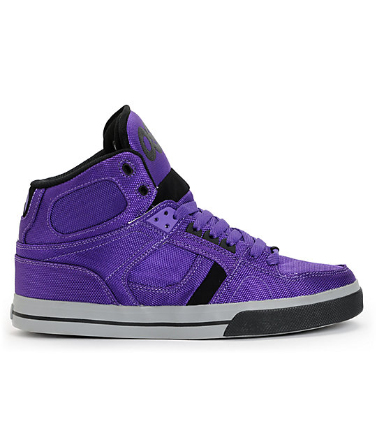 Osiris Nyc  Vulc Black Purple Ballistic Shoe