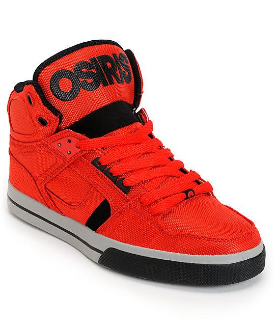 Osiris NYC 83 Vulc Ballistic Red & Black Skate Shoes ...