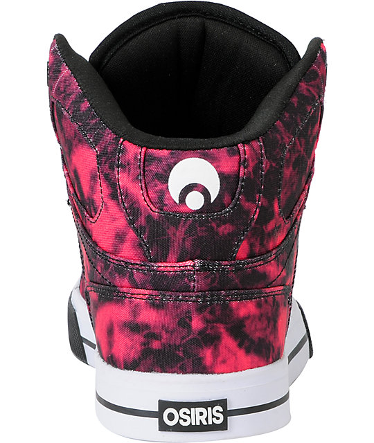 Osiris NYC 83 Vulc Black, Pink & White Shoes