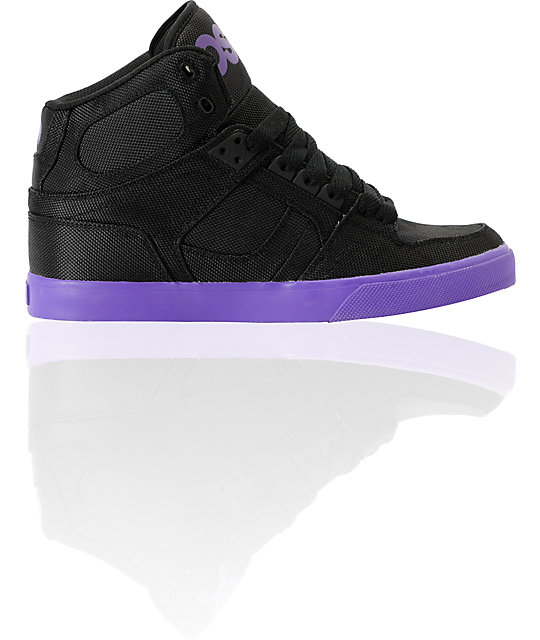 Osiris NYC 83 Vulc Black & Purple Ballistic Shoes
