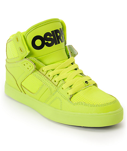 b88e404abb Osiris NYC 83 Vulc Lime Green High Top Shoes | Zumiez