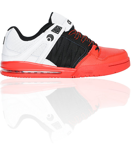 Osiris Pixel Black, Red, & White Shoes