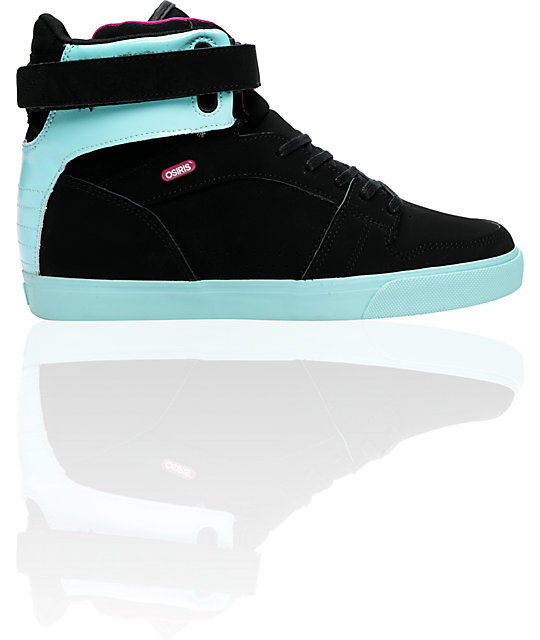 Osiris Rhyme Remix Black, Opal, & Plum Shoes