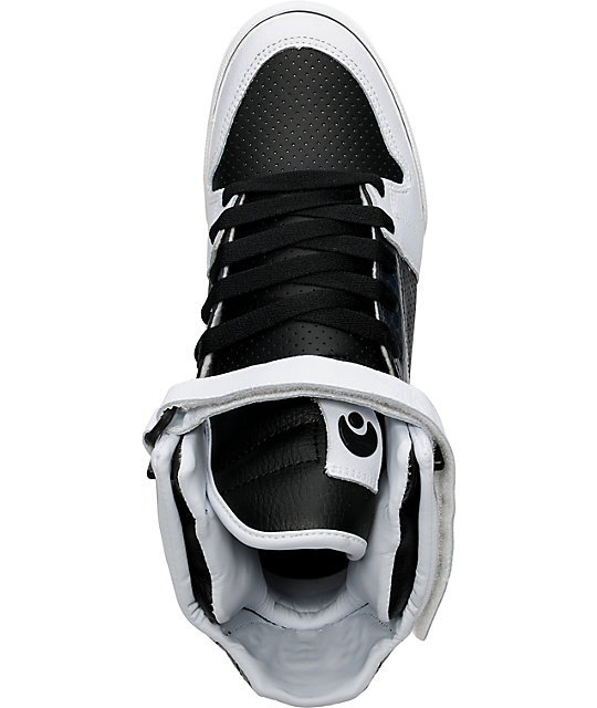 Osiris Rhyme Remix White & Black Perf Shoes