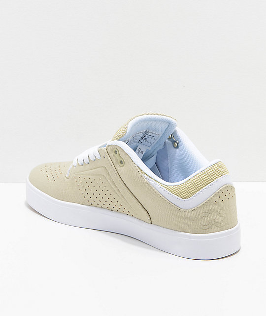 Osiris Techniq Vulc Tan & White Skate Shoes