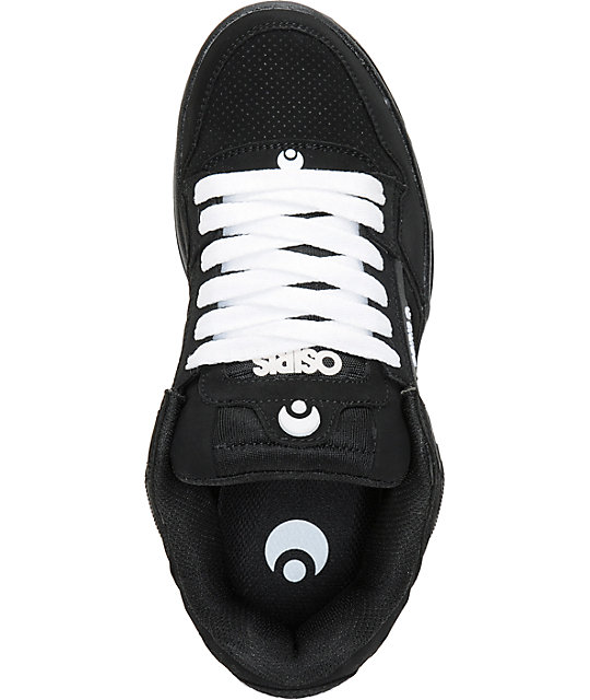 Osiris The Peril Black, White, & Gum Skate Shoes