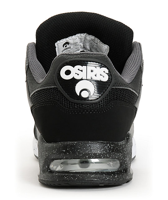 Osiris Uprise Black, White & Charcoal Skate Shoes
